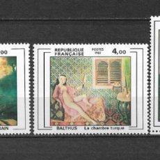 Sellos: FRANCIA 1982 ** MNH PINTURA - 7/27. Lote 147689946