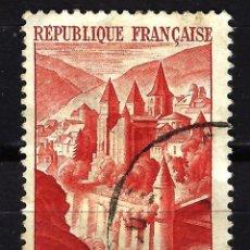Sellos: FRANCIA 1947 YVERT Nº 792 USADO CON CHARNELA - ABADÍA DE CONQUES. Lote 147745722