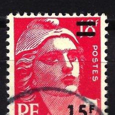 Sellos: FRANCIA 1954 YVERT Nº 968 USADO CON CHARNELA - MARIANNE GANDON. Lote 147759506