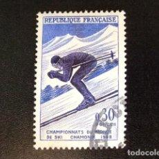 Sellos: FRANCIA 1962 SKY À CHAMONIX YVERT 1326 FU. Lote 148331626