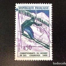 Sellos: FRANCIA 1962 SKY À CHAMONIX YVERT 1327 FU. Lote 148332154