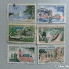 Sellos: FRANCIA 1961 62 TURISMO SERIE TOURISTIQUE YVERT 1312 /16 +18 FU. Lote 148338054