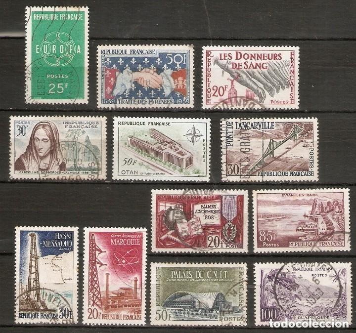 FRANCIA. 1959. CONJUNTO 12 USADOS (Sellos - Extranjero - Europa - Francia)