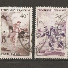 Sellos: FRANCIA. 1956. YV N º 1072/1075.DEPORTES .SERIE COMPLETA. Lote 148448926
