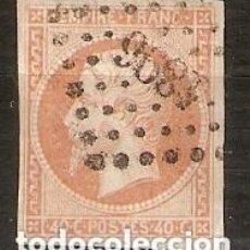 Sellos: FRANCIA. 1853-60 NAPOLEÓN III. YT 16. Lote 148449678