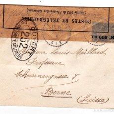 Sellos: SOBRE FRANCIA - SUIZA ABIERTO POR LAS AUTORIDADES MILITARES AÑO 1915. Lote 150146438