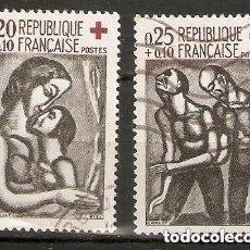 Sellos: FRANCIA.1961. YV. 1323,1324. Lote 151884570