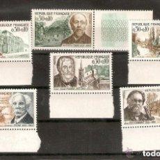 Sellos: FRANCIA. 1966. YVERT Nº 1470/1475. Lote 151886226