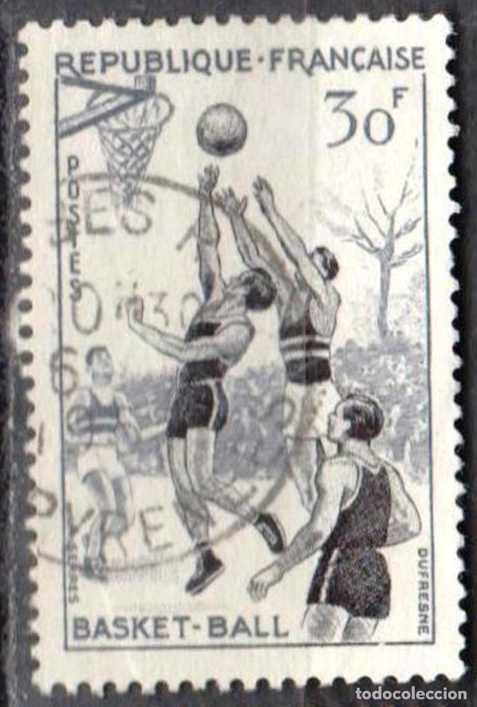 Sellos: FRANCIA - 1 SERIE IVERT 1072-75 (4 VALORES) - DEPORTES 1956 - USADO - Foto 2 - 152321858