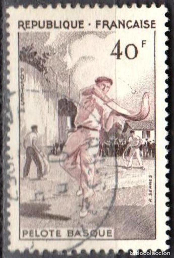 Sellos: FRANCIA - 1 SERIE IVERT 1072-75 (4 VALORES) - DEPORTES 1956 - USADO - Foto 3 - 152321858