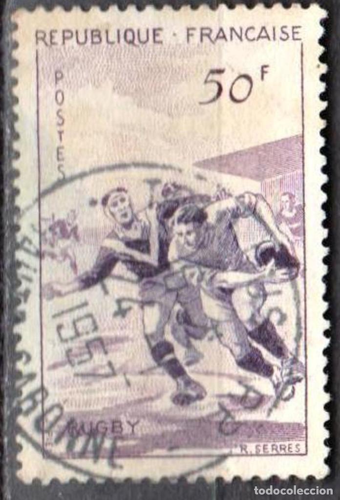 Sellos: FRANCIA - 1 SERIE IVERT 1072-75 (4 VALORES) - DEPORTES 1956 - USADO - Foto 4 - 152321858