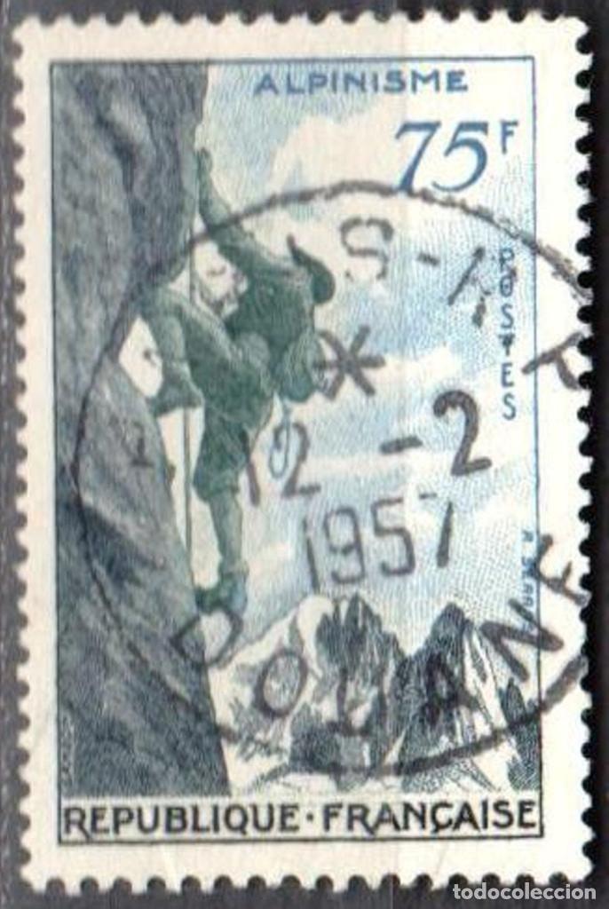 Sellos: FRANCIA - 1 SERIE IVERT 1072-75 (4 VALORES) - DEPORTES 1956 - USADO - Foto 5 - 152321858