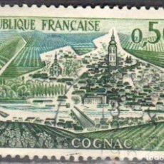 Sellos: FRANCIA - 1 SELLO IVERT 1314 (1 VALOR) - TURISMO 1961 - USADO. Lote 152324570