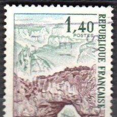Sellos: FRANCIA - 1 SELLO IVERT 1687 (1 VALOR) - TURISMO 1971 - USADO. Lote 152359110