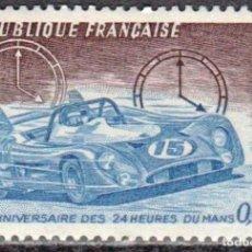 Sellos: FRANCIA - 1 SERIE IVERT 1761 (1 VALOR) - 50 ANIVERSARIO 24 HORAS DE LE MANS 1973 - NUEVO GOMA ORIGIN. Lote 152361526