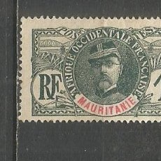 Francobolli: MAURITANIA COLONIA FRANCESA YVERT NUM. 1 USADO. Lote 153433402
