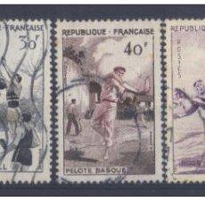 Sellos: FRANCIA 1956 - YVERT 1065 + 1072 / 75 ( USADOS ). Lote 153439014