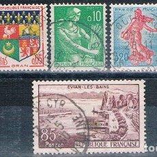 Sellos: FRANCIA 1959 / 60 - YVERT 1193 + 1230 + 1230A + 1231 + 1233 + 1234 ( USADOS ). Lote 153461946
