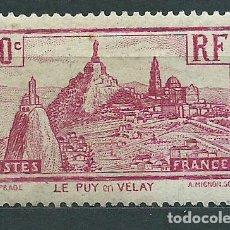Sellos: FRANCIA - CORREO 1933 YVERT 290 * MH PUY-EN-VELAY. Lote 153764110