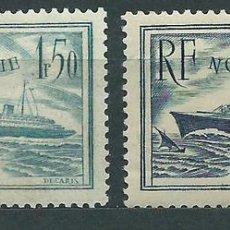 Sellos: FRANCIA - CORREO 1934 YVERT 299/300 * MH BARCOS. Lote 153764170