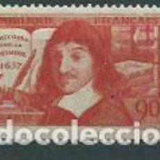 Sellos: FRANCIA - CORREO 1937 YVERT 341 ** MNH DESCARTES. Lote 153764550