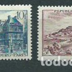 Sellos: FRANCIA - CORREO 1946 YVERT 759/60 O MONUMENTOS. Lote 153765481