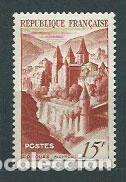 FRANCIA - CORREO 1947 YVERT 792 O ABADIA DE CONQUES (Sellos - Extranjero - Europa - Francia)