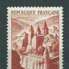 Sellos: FRANCIA - CORREO 1947 YVERT 792 O ABADIA DE CONQUES. Lote 153765710