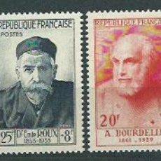 Sellos: FRANCIA - CORREO 1954 YVERT 989/94 ** MNH PERSONAJES DEL SIGLO XIII Y XX. Lote 153766568