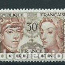Sellos: FRANCIA - CORREO 1956 YVERT 1060 O. Lote 153767002