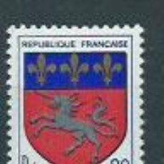 Sellos: FRANCIA - CORREO 1966 YVERT 1510 ** MNH ESCUDOS. Lote 153769253