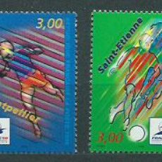 Sellos: FRANCIA - CORREO 1996 YVERT 3010/3 ** MNH FAUNA FÚTBOL. Lote 153775080