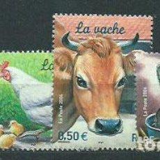 Sellos: FRANCIA - CORREO 2004 YVERT 3662/5 ** MNH FAUNA. Lote 153777185