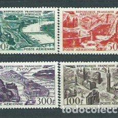 Sellos: FRANCIA - AEREO YVERT 24/27 ** MNH GRANDES CIUDADES. Lote 153781710