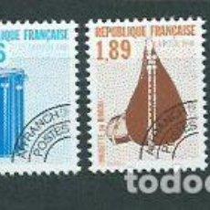 Sellos: FRANCIA - PREOBLITERADOS YVERT 206/9 ** MNH INSTRUMENTOS MUSICALES. Lote 153783337