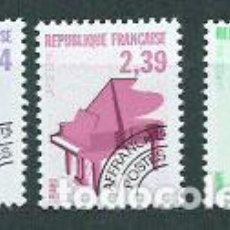 Sellos: FRANCIA - PREOBLITERADOS YVERT 210/2 ** MNH INSTRUMENTOS MUSICALES. Lote 153783341