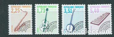 FRANCIA - PREOBLITERADOS YVERT 224/7 ** MNH INSTRUMENTOS MUSICALES (Sellos - Extranjero - Europa - Francia)