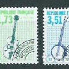 Sellos: FRANCIA - PREOBLITERADOS YVERT 224/7 ** MNH INSTRUMENTOS MUSICALES. Lote 153783349