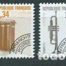 Sellos: FRANCIA - PREOBLITERADOS YVERT 228/31 ** MNH INSTRUMENTOS MUSICALES. Lote 153783353