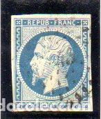 FRANCIA. SELLO DEL AÑO 1852. SIN DENTAR. EN USADO (Sellos - Extranjero - Europa - Francia)