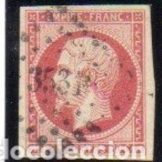 Sellos: FRANCIA. SELLO DEL AÑO 1853/61. SIN DENTAR. EN USADO. Lote 154506690