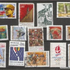 Sellos: FRANCIA. 1990-1999. LOTE 14 USADOS.. Lote 154748778