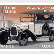 Sellos: FRANCE 2019 - STAMP DAY 2019 - STYLISH CARS - CITROËN TYPE A10 HP MNH. Lote 155870309