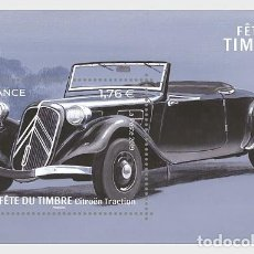 Sellos: FRANCE 2019 - STAMP DAY 2019 - STYLISH CARS - CITROËN TRACTION - MINIATURE SHEET MNH. Lote 155870298