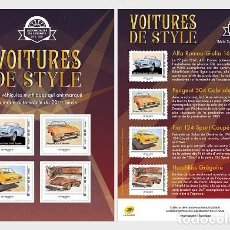 Sellos: FRANCE 2019 - STAMP DAY 2019 - STYLISH CARS - STUDIO - COLLECTIBLE SHEET MNH. Lote 155534414