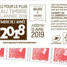 Sellos: FRANCE 2019 - MARIANNE - ELECTION DU TIMBRE - STAMP BOOKLET MNH. Lote 155535866