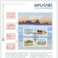 Sellos: FRANCE 2019 - EUROPEAN CAPITALS - HELSINKI PHILATELIC DOCUMENT. Lote 155542510