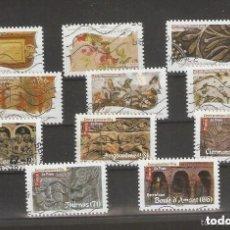 Sellos: FRANCIA.2009. CONJUNTO DE 11 USADOS. Lote 156710542