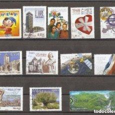 Sellos: FRANCIA. 2008. LOTE 12 USADOS. Lote 156710578