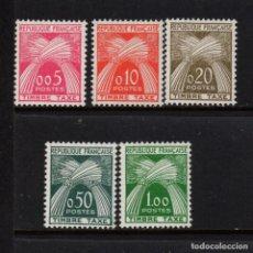 Sellos: FRANCIA TASA 90/94** - AÑO 1960 - GAVILLAS. Lote 158119950